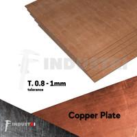 Plat Tembaga 1mm  Copper Plate harga per 1 cm2