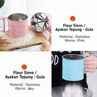 Ayakan Tepung - Gula Halus Stainless / Flour Sieve - Biru Muda