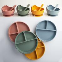 Silicone Bib Suction Bowl Spoon Set Celemek Mangkok Sendok Makan Bayi
