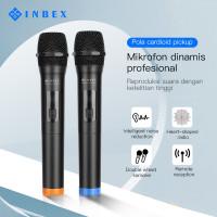 INBEX MIC Wireless Microphone,UHF Dual Handheld mikrofon with Receiver