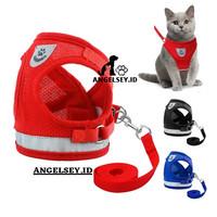 Harness Anjing Kucing PREMI Baju Rompi Tali Tuntun Hewan Size S & M