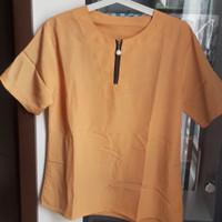 Blouse baju atasan wanita - preloved - Orange/Kuning