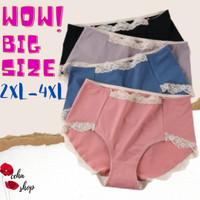 Celana Dalam Wanita Jumbo Renda Super Soft Katun - WearMe