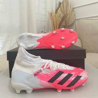 Sepatu Bola Adidas Predator 20.1 White Pink FG