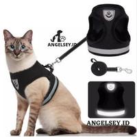 Harness Anjing Kucing PREMI Baju Rompi Tali Tuntun Hewan Size L / XL