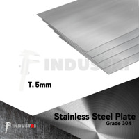 Plat Stainless 5mm   Stainless Steel Plate harga per 1 cm2