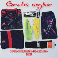 Gratis Ongkir COD paket komplit sepatu futsal Nike hijau kuning - 39, M