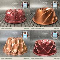 MURO Bundt Baking Cake Loyang Cetakan Kue Bolu Pan Marble Anti Lengket