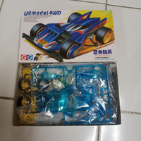 Auldey Mini 4WD Blue Hurricane Aka Strato Vector