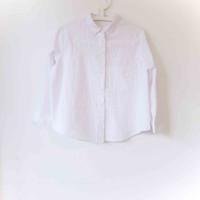 Baju Preloved - Kemeja, MANGO White Stripped Shirt