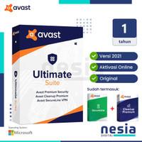 Avast Ultimate Antivirus 1 Tahun - ORIGINAL ANTI VIRUS