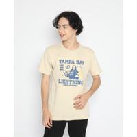 Kaos Pria Erigo T-Shirt Tampa Lightning Cotton Combed Cream - S