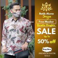 Kemeja Batik Pria Kombinasi Baju Batik Keris Parang Casual Katun B25