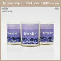LAVENDER 75ml   Lilin Aromaterapi   Aroma Terapi   Scented Candle