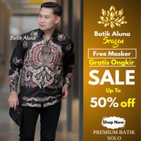 Kemeja Batik Pria Parang Baju Batik Kombinasi Keris Tulis Casual BM07