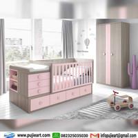 Box Bayi Anak Perempuan Warna Pink, Kasur Anak Cewek Minimalis Duco