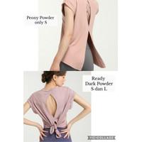 Baju olahraga wanita/ baju Fitnes/ baju gym/ baju lari quick dry loose - Dark Powder, S
