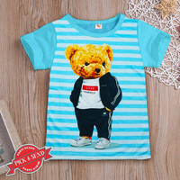 Kaos Anak Baju Cowok Laki - Laki Motif Bear jas 1 - 12 tahun - 1-2 tahun