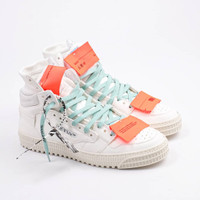 Off White Court Vintage Calf White Violet Sneakers (100% Authentic) - 40