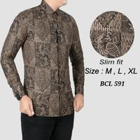 Batik pria, kemeja slimfit pria,baju batik cowok BCL 376