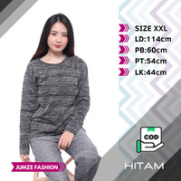 Baju Kaos Wanita Jumbo XXL Lengan Panjang Tshirt Oversized SIERA