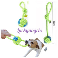 Mainan Gigitan Anjing Tali Ikat Bandul 18cm & 32cm - Mainan Anjing