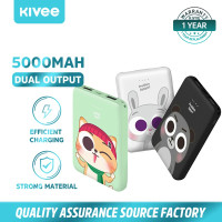 Power Bank Kivee PT609 5000mah Mini Dual USB Fast Charging Cute Design