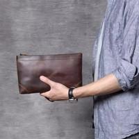 Clutch Bag Kulit Unisex / Tas Tangan Handbag Pria Wanita Kulit Asli