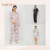 Baju Tidur Piyama Wanita Satin Silk GREET S-128