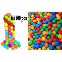 BOLA WARNA WARNI MANDI BOLA PLASTIK ISI 100 PCS