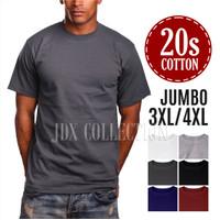 Baju Kaos Polos Dewasa Big Size Jumbo 3XL 4XL XXXL Kaos Oblong T-Shirt