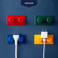 Gantungan 4 PCS Tas Kabel Kunci Baju Tempel Hook Dinding Unik Premium