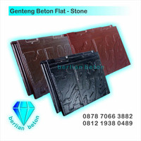 Genteng Beton Flat Stone/Batu untuk Atap Hebel Bata Ringan