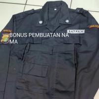 baju pdl security 1stel bonus nama+jahit