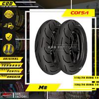 PAKET BAN MOTOR MATIC CORSA M5 PLATINUM 110/70 130/70 RING 13 TUBLES
