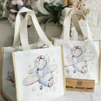 Handbag Tali Kanvas / Tas custom /Souvenir /Hampers / Goddiebag