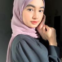 Kerudung Plisket Pasmina Super / Jilbab Pashmina Hyget Plisket