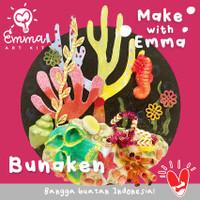 NEW! Make With Emma Art Kit: Bunaken. Craft for Kids. Painting Set.