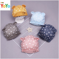 Topi bayi korea polkadot / topi import anak bayi / baby baseball cap