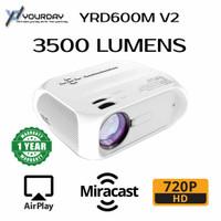 Yourday YRD600M Mini Projector LED Proyektor Wifi Miracast