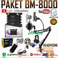 Paket Mic Condenser BM-8000 Soundcard XOX-KS108