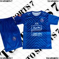 baju Jersey setelan AREMA FC MALANG, baju Jersey bola setelan anak