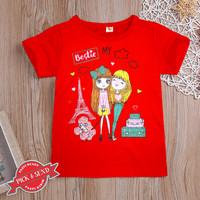 Kaos Anak Baju Cewek Gambar Princes 1 - 12 tahun