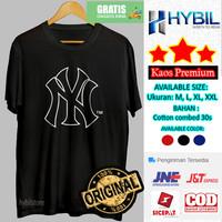 Kaos Cowok Distro Baju Pria Cotton Combed 30s Yankees New York 2020 - Putih, M