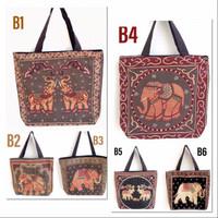 CRU Tas Totebag kanvas thailand jinjing besar import elephant B series