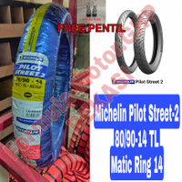 Michelin 80/90-14 Pilot Street 2 Ban Motor Ring 14 Tubeless