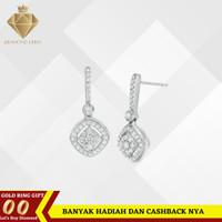 Anting berlian emas asli perhiasan anting wanita diamond asli