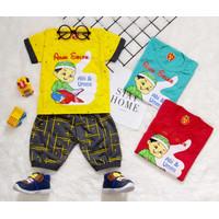 set baju bayi laki laki 3 6 12 bulan lucu premium