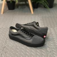Sepatu Vans Oldschool Warna Abu abu Lis Hitam Ukuran 37-43