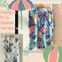 Baju Kemeja Pria Hawai Pantai Size Jumbo Terbaru / Kemeja Cowok Bali